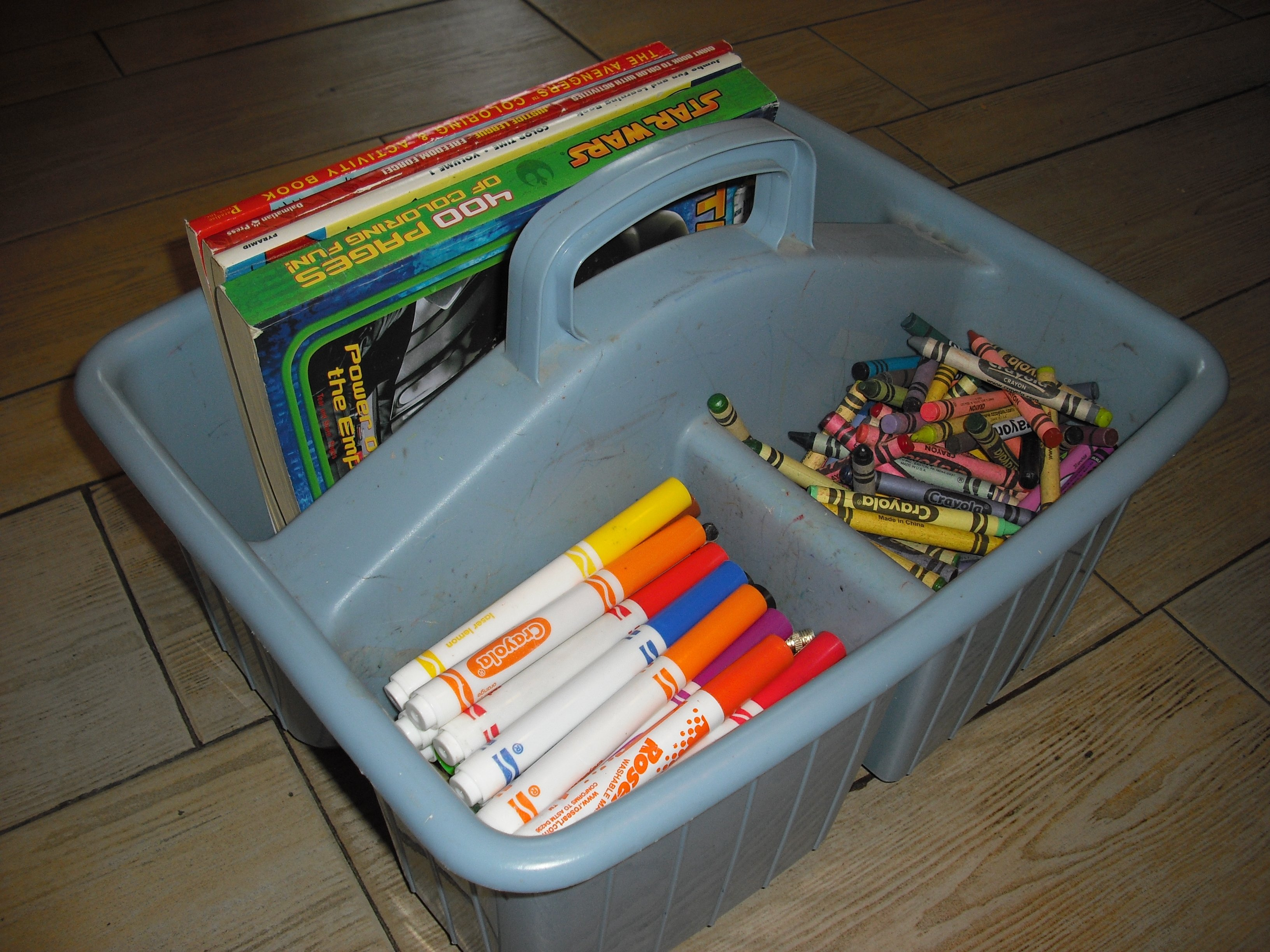 Storage For Coloring Books And Crayons Items similar to coloring
